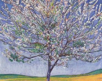 Cherry Tree in Bloom by Ferdinand Hodler Home Decor Wall Decor Giclee Art Print Poster A4 A3 A2 Large FLAT RATE SHIPPING