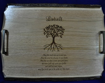 Wedding Gift ~ Wedding Gift For Parents ~ Irish Blessing ~ Family Tree ~ Engraved Serving Tray ~ Gift For Couple ~ Engraved Family Gift ~