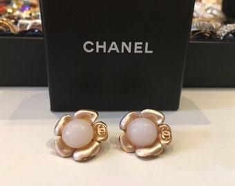 Vintage Chanel Earrings - Chanel Earrings - Chanel Flower Earrings