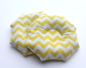 Nursing Cozy COTTON Yellow Chevron FLANNEL Flaxseed Pack Heat Pack Breast Compress Cold Compress