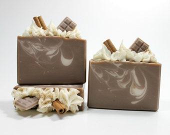 Coffee Mocha Soap, Cold Process Soap, Coffee Soap, Handmade Soap Bar, Mocha Soap, Coffee Body Soap Bar