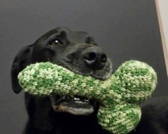 Dog Knob - Squeaky Dog Toy. Crocheted penis for dogs. Kawaii