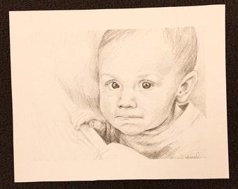 Custom Portraits in Pencil - Medium