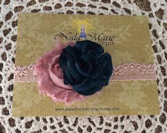 Pale Pink/Mauve Headband