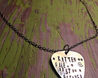 MMJ Inspired Guitar Pick Necklace