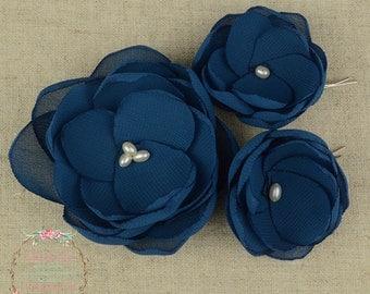 Teal Wedding - Teal Hair Clip - Teal Hair Flower - Teal Bridesmaids - Teal Flower Girls - Teal Hair Pin -Teal Flower Brooch -Teal Accessory