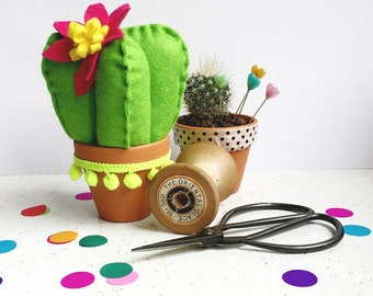 Craft kit, DIY craft kit, felt cactus, beginners kit, craft activities, home decor, secret santa, stocking filler, sewing pattern, botanical