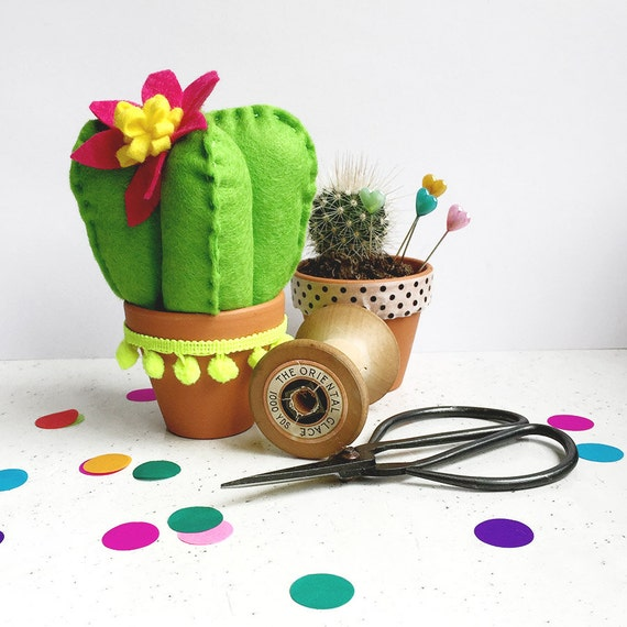 felt cactus craft kit- DIY craft kit- Craft kit- felt sewing kit- gifts for her - galentine's gifts- sewing kit- cactus plush- succulent