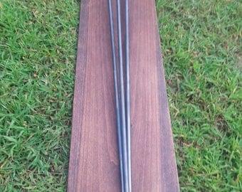 "Adjustable Leveling Raw 42"" 3 Rod Hairpin Leg - Beeswax coating optional"
