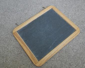 Vintage School Double Sided Chalk Board with Hooks | Slate Board | Message Board | Vintage Style Wedding Sign | Home Decor Chalk Board