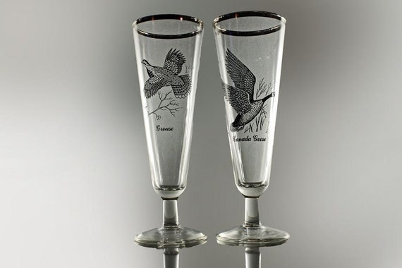 Pilsner Glasses,  Sportsman, Federal Glass, Set of 2