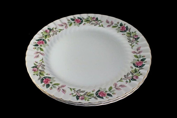 Dinner Plates, Creative Fine China, Regency Rose, Japan, Set of 2, Large