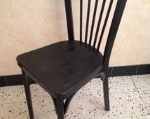 Articles uniques correspondant chaise de bistrot etsy - Chaise bistrot ancienne baumann ...
