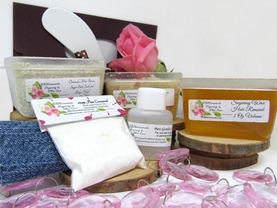 Pink Rose Petal Scrub Sugaring Wax Deluxe Starter Kit