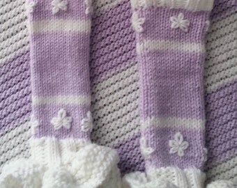 Amethyst Knitted Baby Leg Warmers