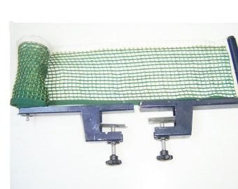 Vintage Professional Net & Brackets For Table Tennis, Game, Sport
