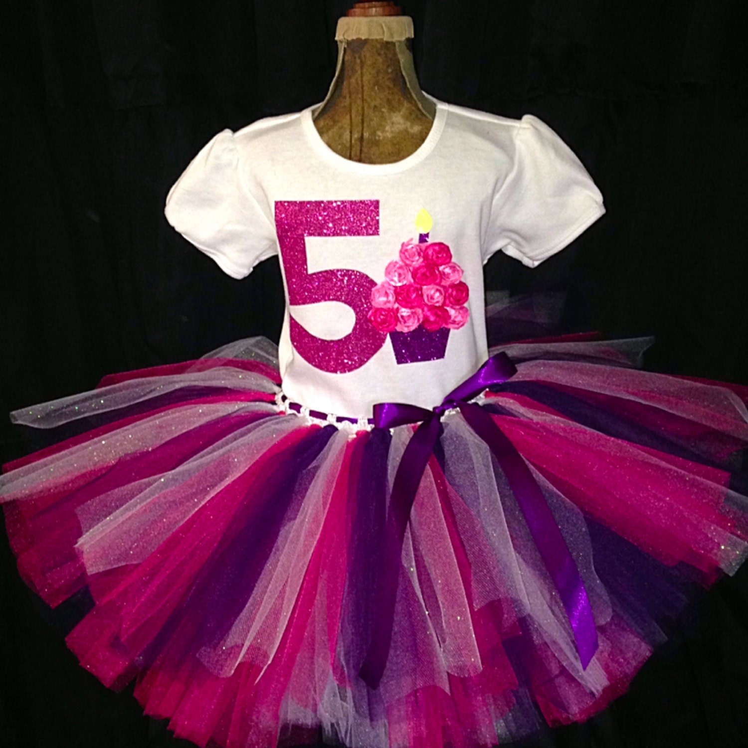 Birthday Party Outfit: Girl's Fifth Birthday Outfit 5th Birthday Shirt 5 Year By