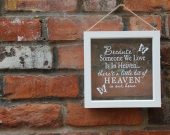 Because someone we love is in heaven frame Shadow Frame, Shadow Box Frame