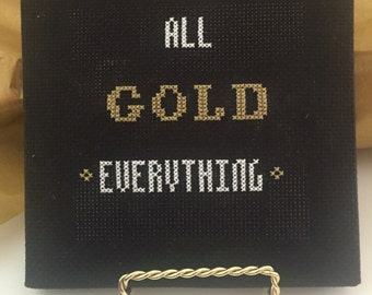 All Gold Everything Cross-Stitch