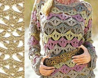 Femmes pull crochet alpaga / sur commande