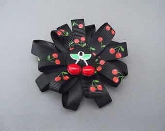 Stunning Cherry Hairclip, Rockabilly, Retro Style