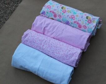 Blue Gingham Baby Flannel Blanket
