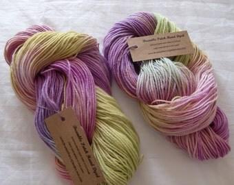 Kammneves Hand Dyed Merino DK Yarn In Rainbow Colours