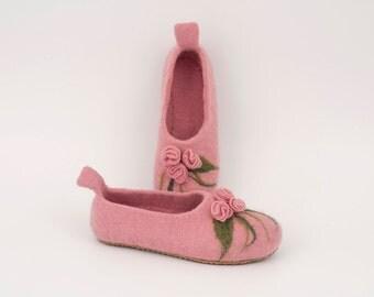 Slippers of wool, women's slippers, warm slippers, home slippers, handmade slippers