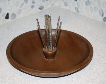 Rustic wood nut bowl