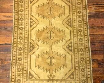 Vintage Persian Rug Hamadan Oriental Rug / Geometric