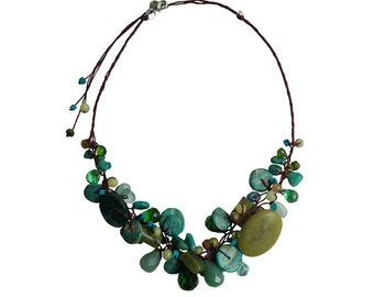 Poungyok Handmade Natural Stone Necklace