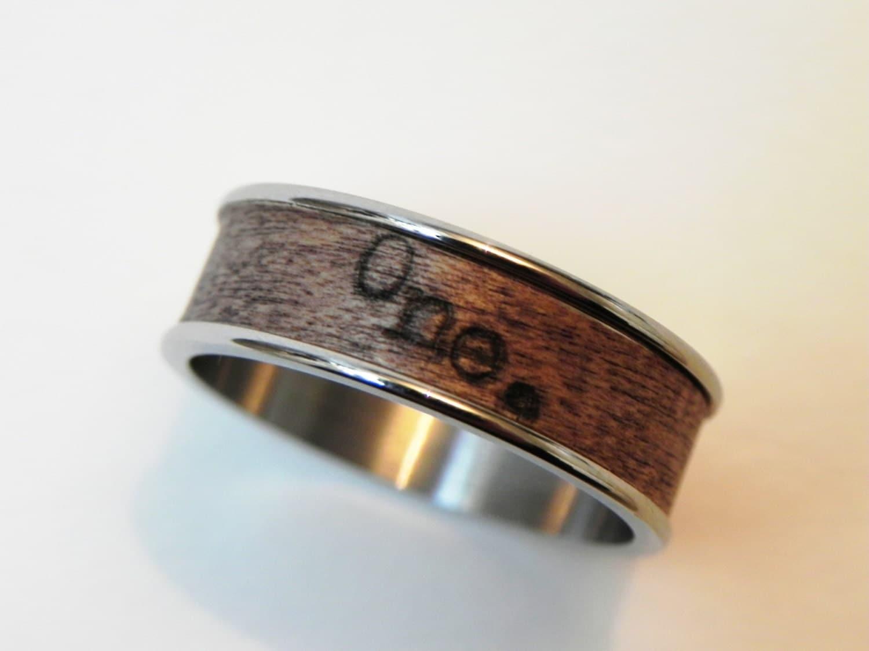 typewriter ring one real wood promise ring