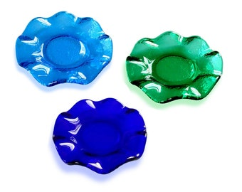 50 round with rippled Murano glass Favors