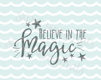 Believe in the magic SVG Vector File. Christmas and more. So many uses. Merry Christmas Stars Believe Magic SVG