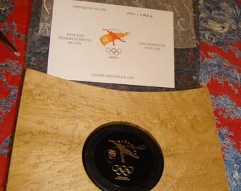 Olympic Puck in Box 1998 Nagano Winter Olympics