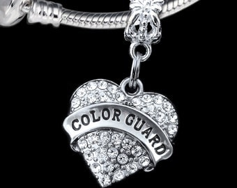 Color guard charm  (Charm Only) fits european style bracelet and necklace