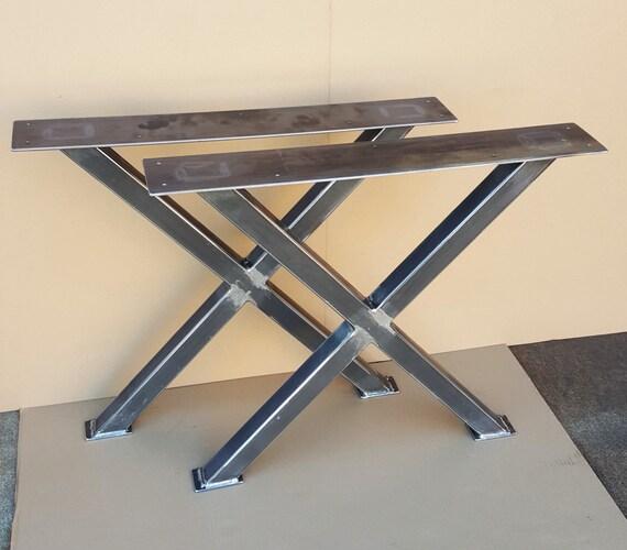 X Table Legs Heavy Duty Sturdy X Metal Legs By Dvametal