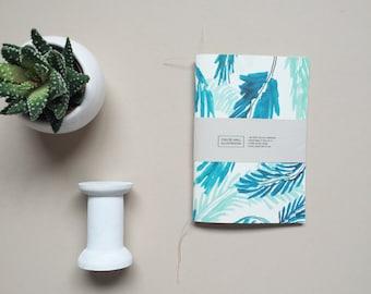 Palm Leaf Patterned Pocket A6 Notebook