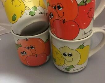vintage Nancy Lynn coffee mugs