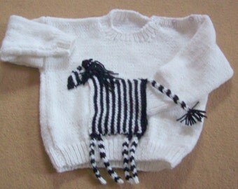 toddler jumper with zebra pocket