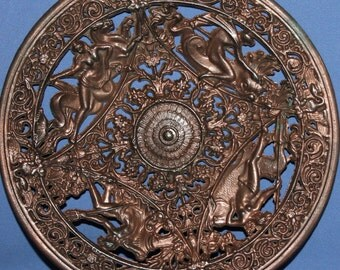 Vintage Ornate Metal Decorative Plate
