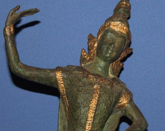 Vintage Hand Made Bronze Dancing Hindu Deity