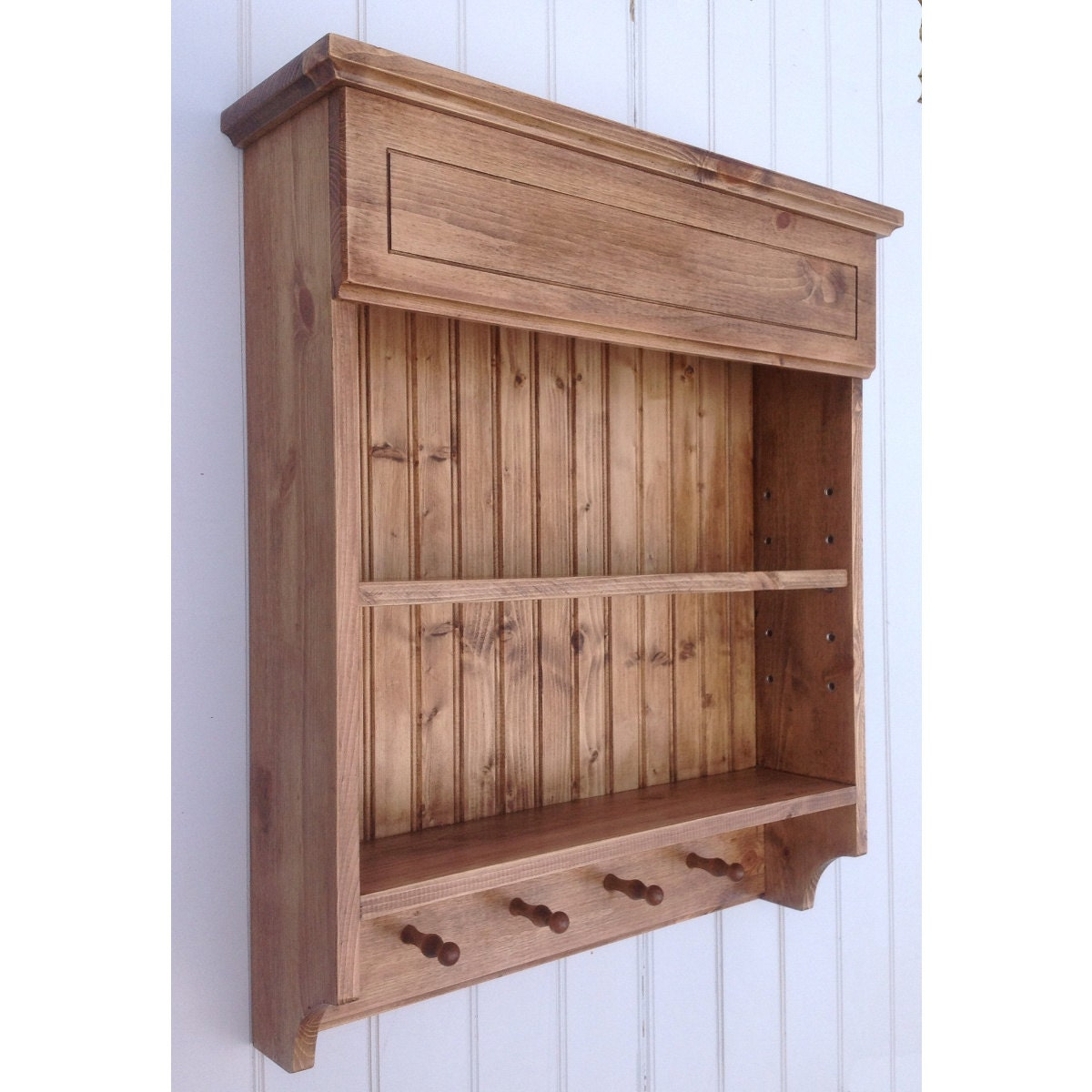 Shelf bookcases memorial wall displays antique white wall display -  Zoom