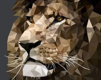 Lion Polygon Picture