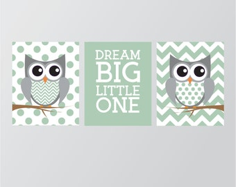 Owl Nursery Decor - Gender Neutral Nursery - Owl Nursery Wall Art - Nursery Art - Woodland Nursery - Owl Baby Shower Digital Download