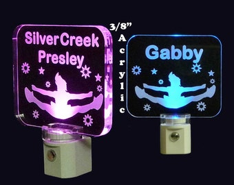 "Personalized Cheerleader LED Night Light - Kids Lamp - Girls - 3/8"" acrylic"