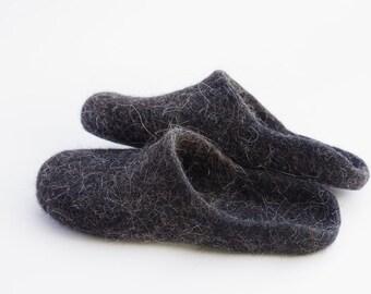 Felted slippers for man- house slippers felt house slippers- alpaca men slippers- house shoes- father's day gift- gift for husband