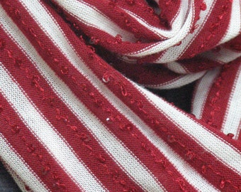 Candy cane infinity scarf