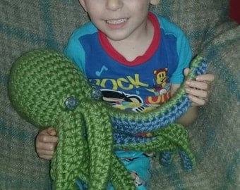 crochet giant octopus plush toy- choose your colors