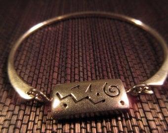 Reversable Boho Sterling Silver Bracelet